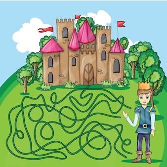 Игра в лабиринт - принц, чтобы найти путь к своему замку