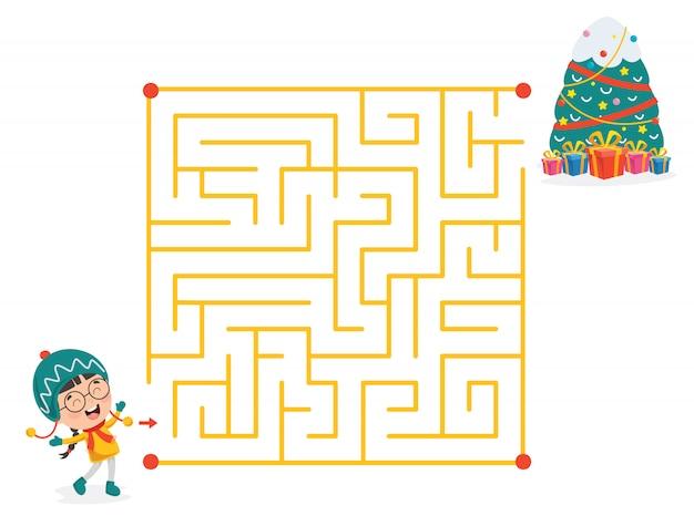 子供のための迷路ゲームイラスト