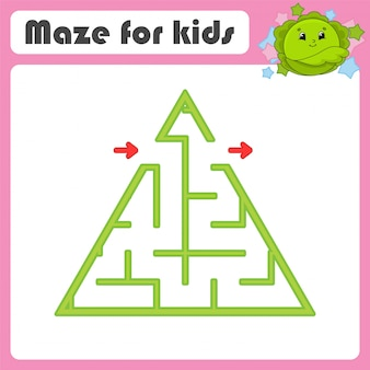 Maze. game for kids. funny labyrinth. education developing worksheet. activity page.