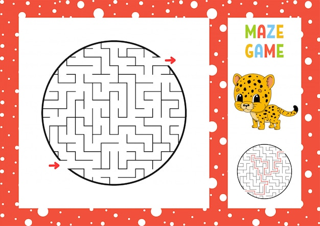 Maze. game for kids. funny labyrinth. education developing worksheet.