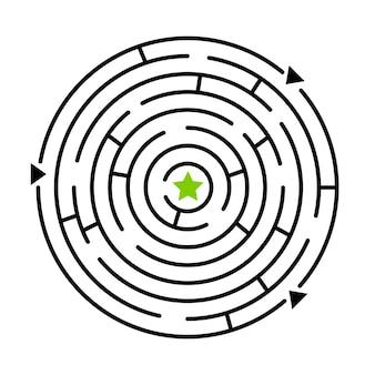 迷路ゲーム。迷路のベクトル図、迷路炎のパスと白い背景で隔離の多くの門への道