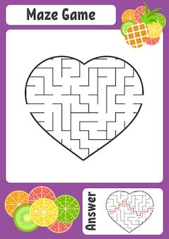 Лабиринт в форме сердца