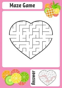 Лабиринт в форме сердца.