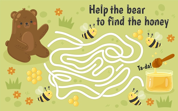 Maze for kids animals theme
