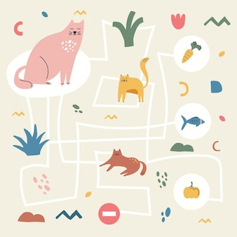 Maze for kids illustration