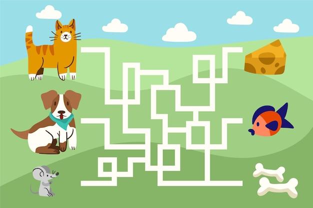Maze for kids illustration