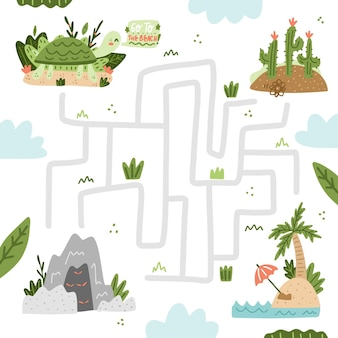 Maze for kids template