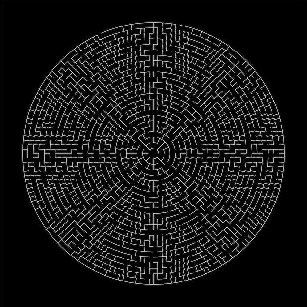 Maze or labyrinth geometric vector design. idea or making decision concept