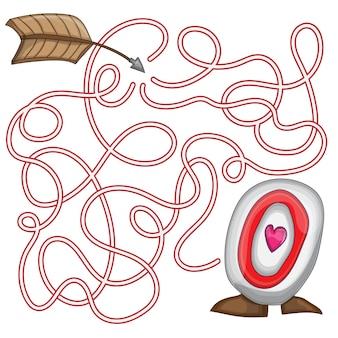 성 발렌타인 데이를 위한 미로 퍼즐 게임 - 2월 14일