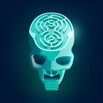 Maze skull