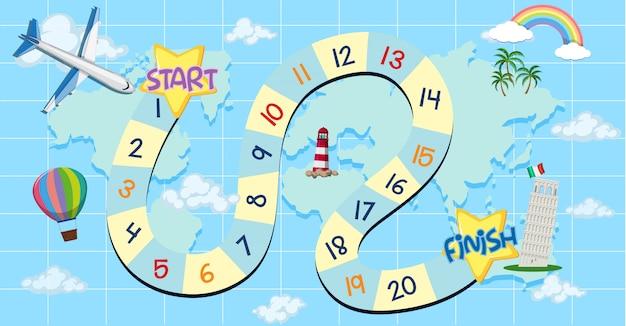 A maze travel game theme