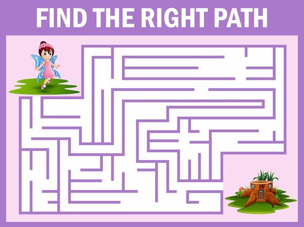 Игра maze находит, что фея улетает в дом