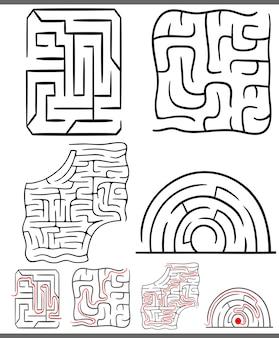迷路または迷路の図が設定されています