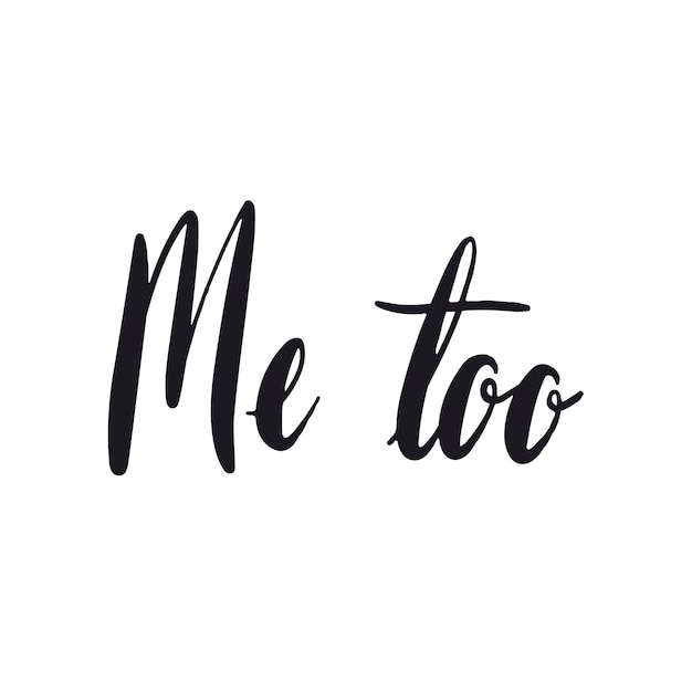 Me too movement typography style vector