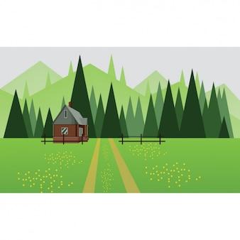초원 배경 디자인
