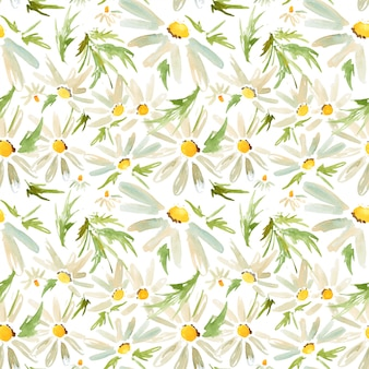 Meadow daisy seamless pattern