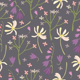 牧草地の花のパターン