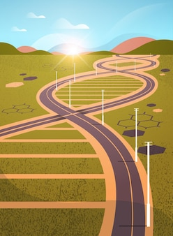 遺伝的dna形状の道路のある牧草地らせん分子構造クリニック医療研究とテスト