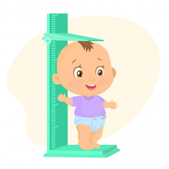 Measure a baby boy growth
