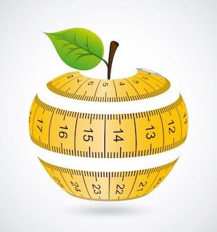 Measure design over gray background vector illustration