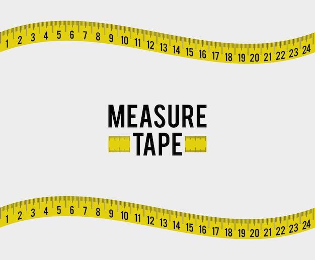 Измерение ленты и диеты