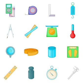 Measure tools icons set