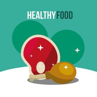 Мясо и куриные ноги здоровое питание