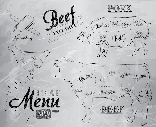 Meat menu coal