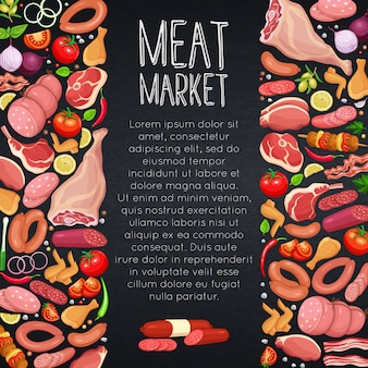 Meat products with vegetables