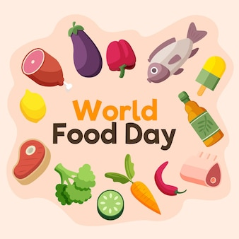 Meat and veggies world food day