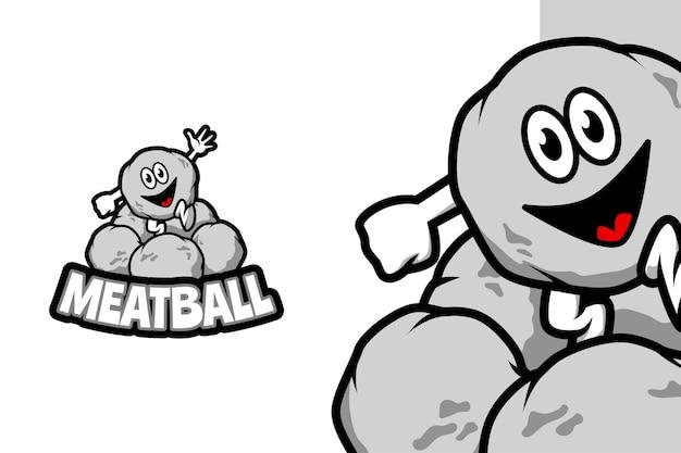 Фрикаделька - шаблон логотипа талисмана