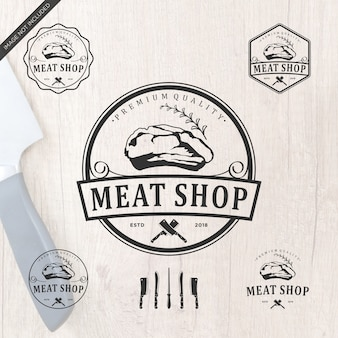 Meatshop logo design