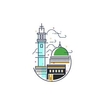 Mecca icon illustration