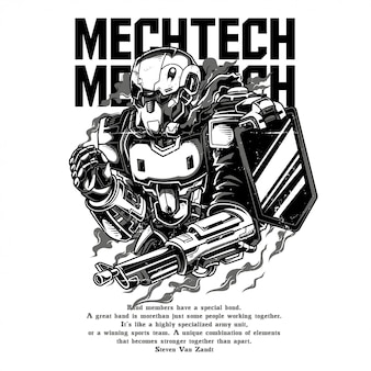 Mech tech black and white