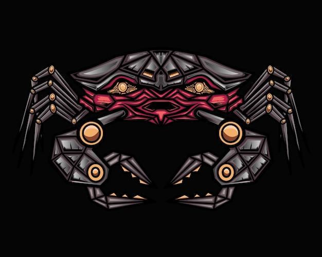 Mecha crab illustration vector graphic