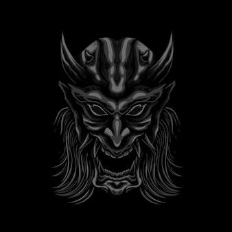 Иллюстрация маски меха демона