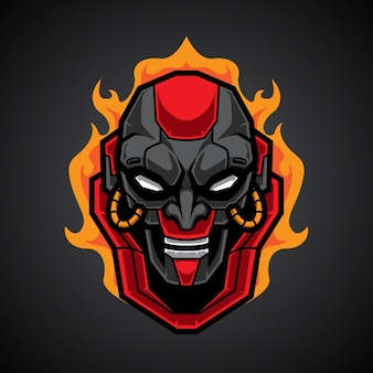 Mecha skull esportロゴ