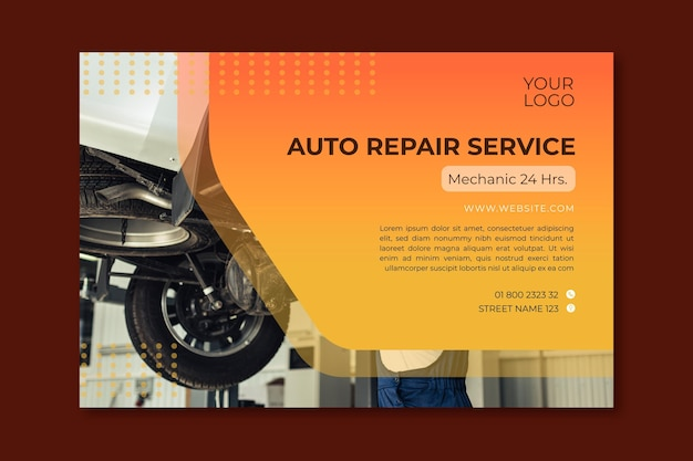 Mechanic ad banner template