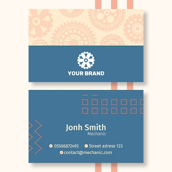 Шаблон визитки для механика
