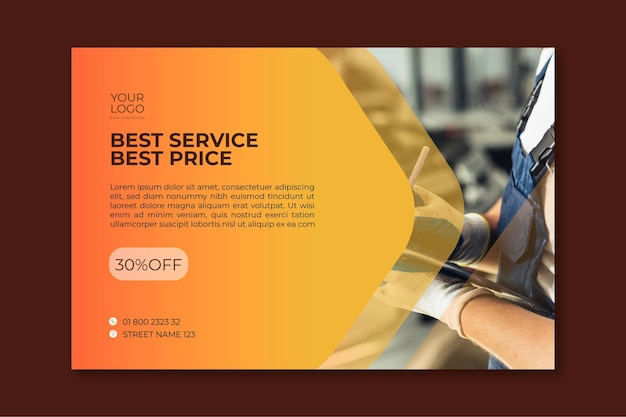 Mechanic ad flyer template
