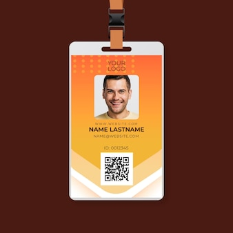 Mechanic ad id card template