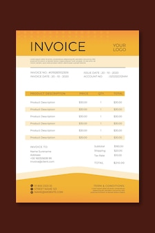 Mechanic ad invoice template
