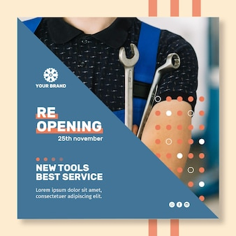 Mechanic ad poster template