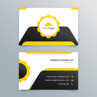 Mechanic double-sided business card pack