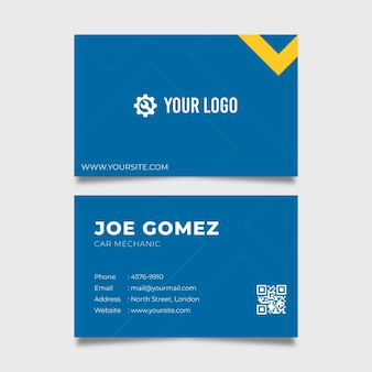 Mechanic double sided business card template