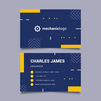 Mechanic double-sided business card