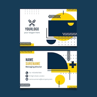 Mechanic double-sided businesscard h