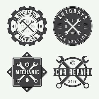 Механическая эмблема и логотип.