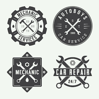 Mechanic emblem and logo.