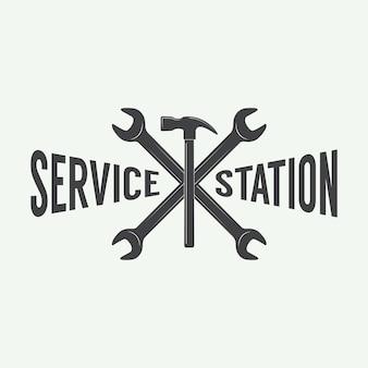 Mechanic emblem and logo.